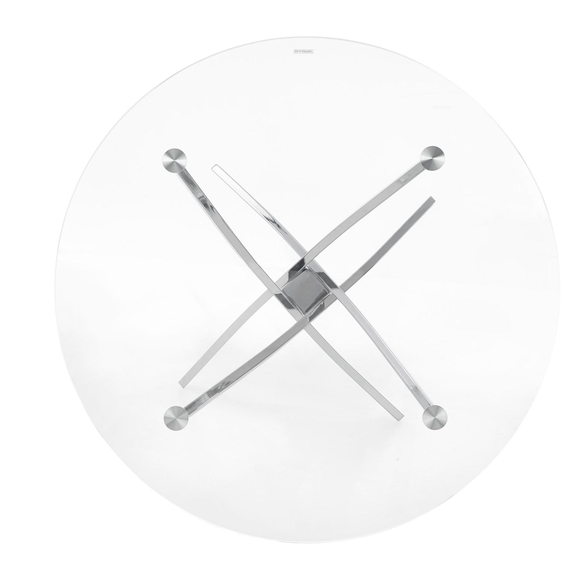 Кръгла маса Кристал - отгоре