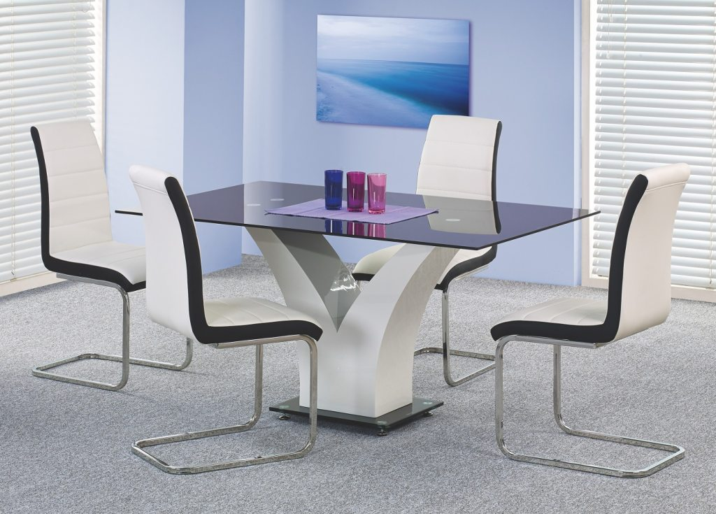 Стъклена маса Вики - със столове