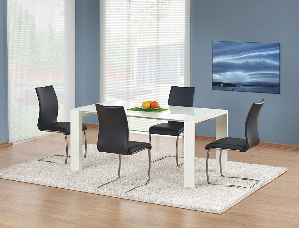 Модерна бяла маса с тънък плот Идеал