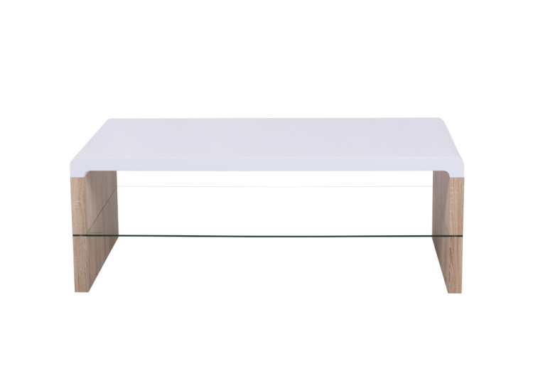 Модерна холна маса с бял плот-снимка отпред