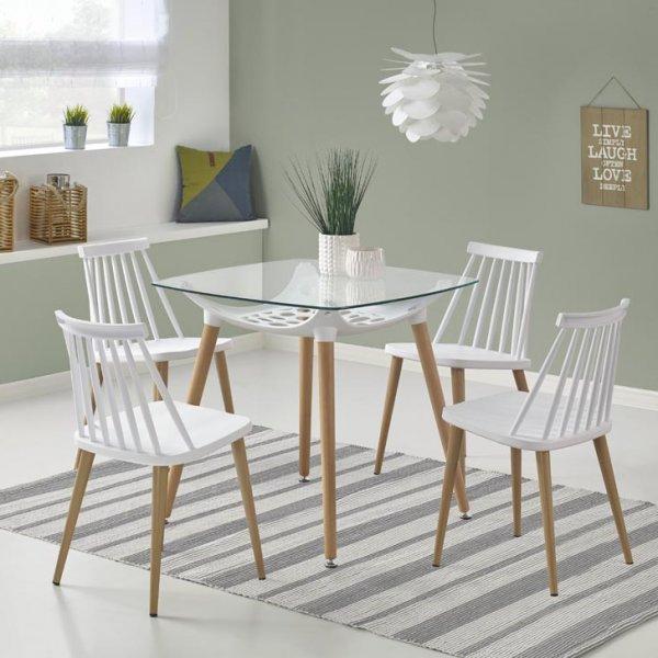 Малка маса Бела - с 4 стола
