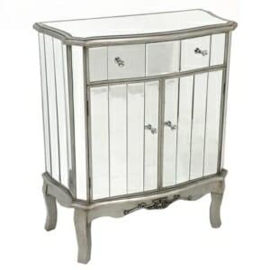 Огледален шкаф с чекмедже и вратички серия Glamour