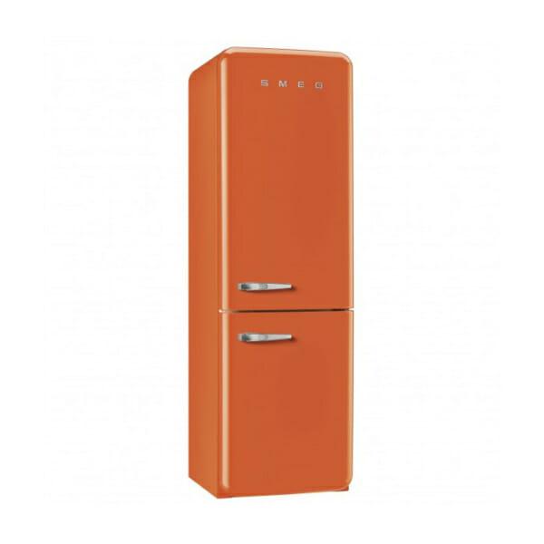 Оранжев хладилник с фризер SMEG