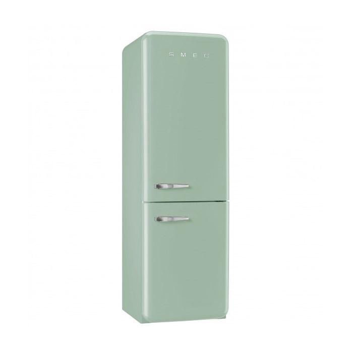 Пастелнозелен хладилник с фризер SMEG