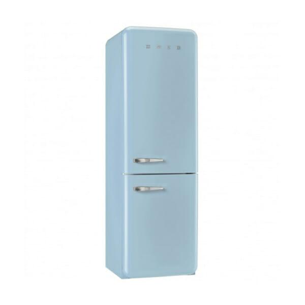 Пастелносин хладилник с фризер SMEG
