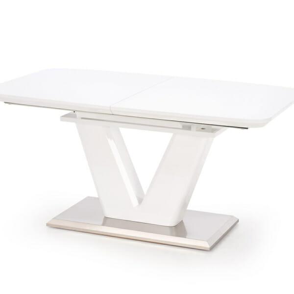 Бяла трапезна маса