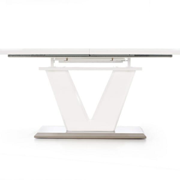 Бяла трапезна маса -неразтегната с механизъм