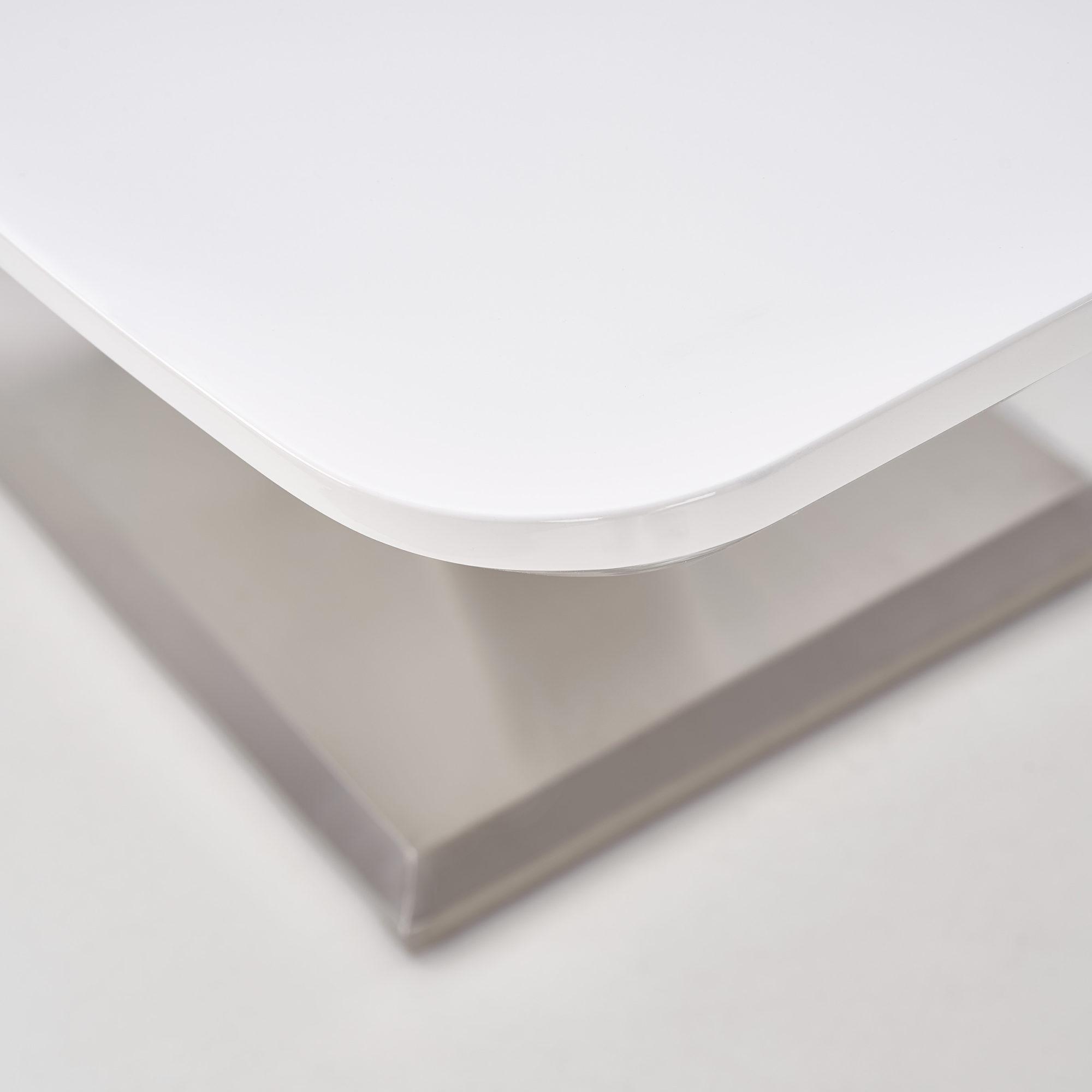 Правоъгълна разтегателна маса в бяло Мила