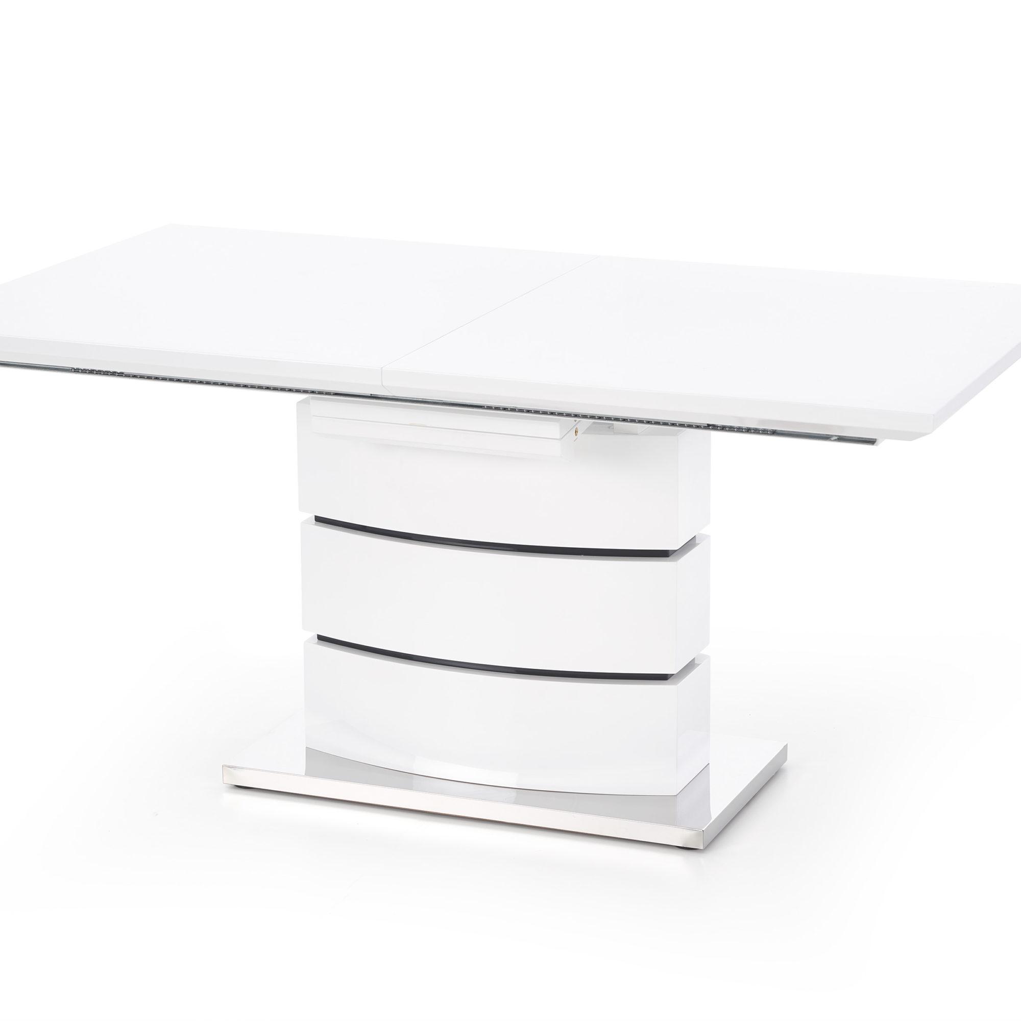 Разтегателна трапезна маса в бяло Стил -странично