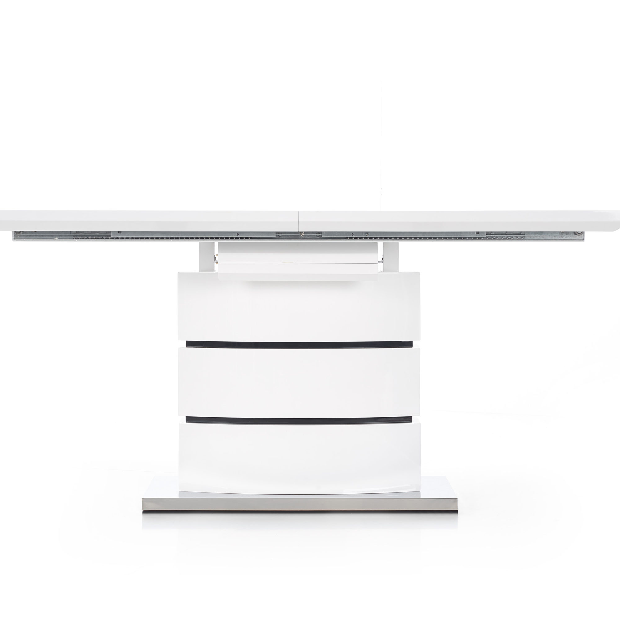 Правоъгълна трапезна маса в бяло Стил