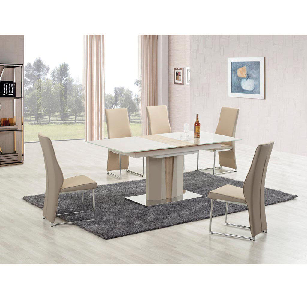 Разтегателна трапезна маса Стило - с 4 стола