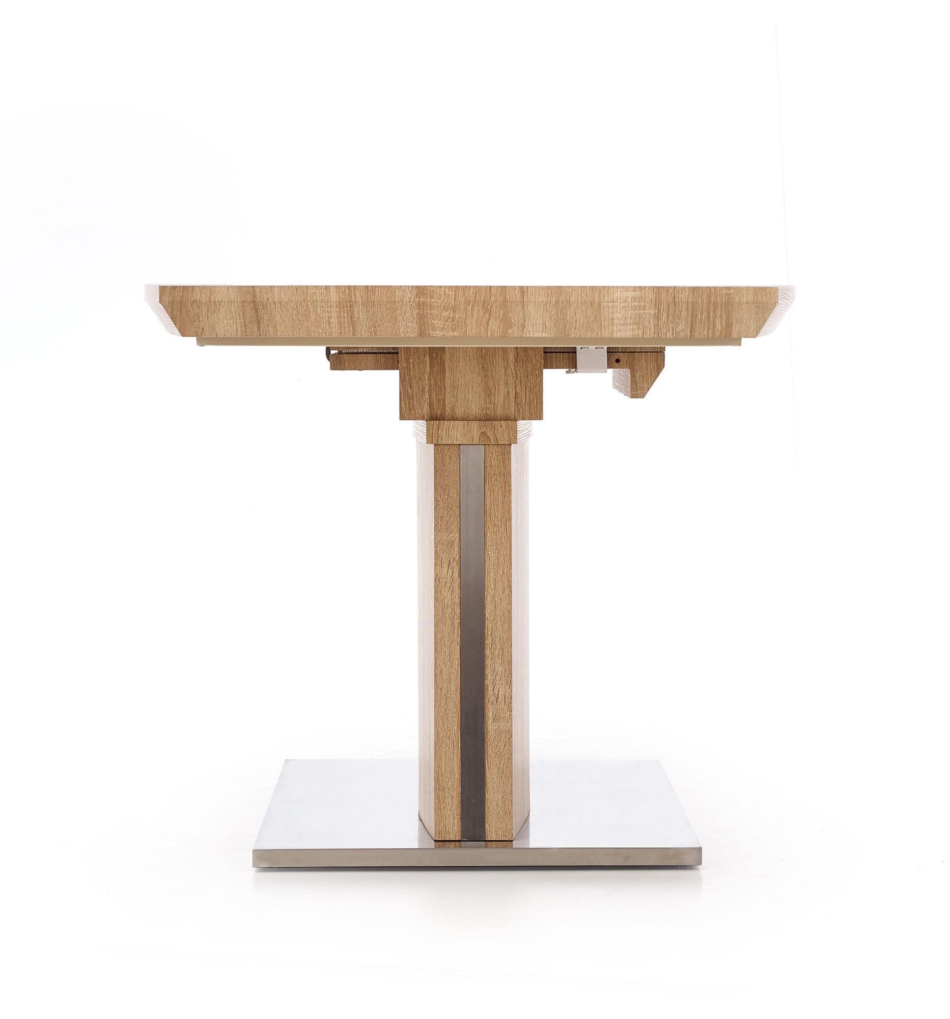 Разтегателна трапезна маса в цвят дъб сонома Рафи