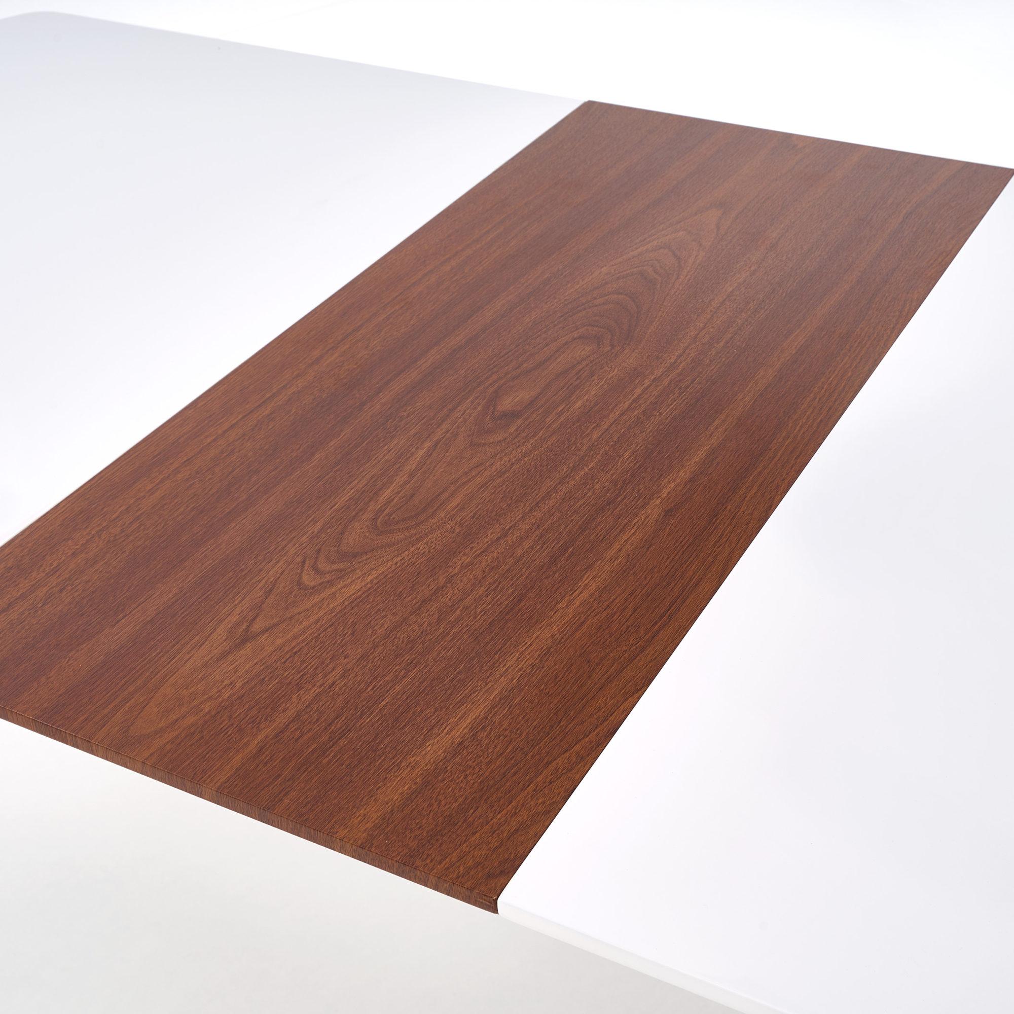 Разтегателна трапезна маса в два цвята Ричи