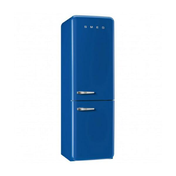 Син хладилник с фризер SMEG