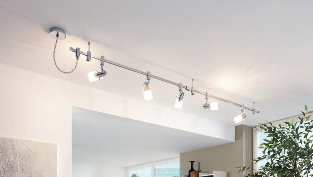 Спот осветление за таван с 5 крушки серия Vilanova - монтирано