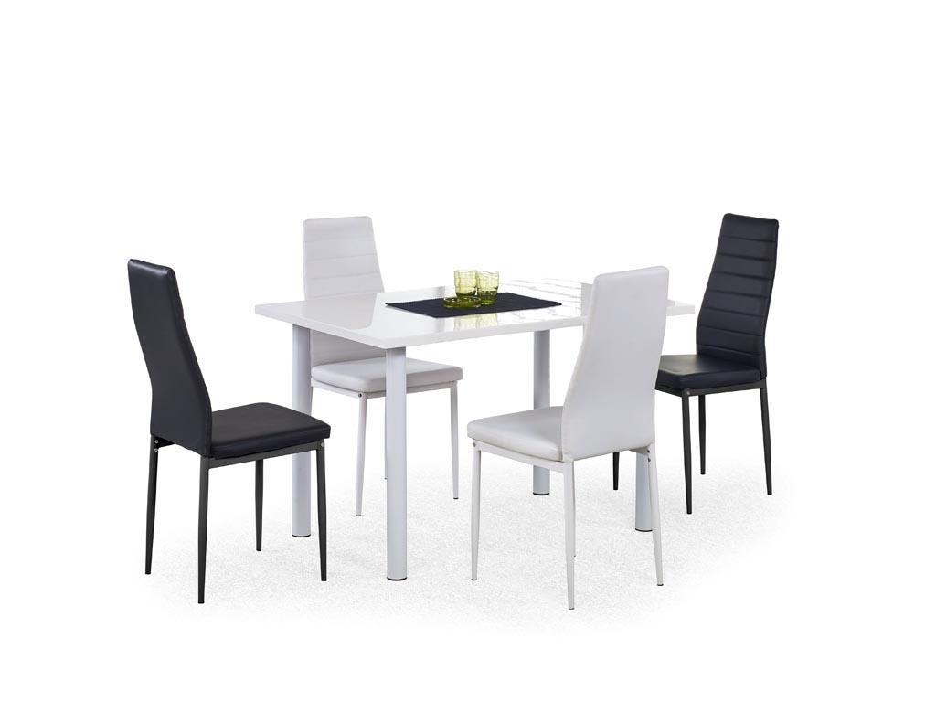 Трапезна маса боядисана в бяло Алина
