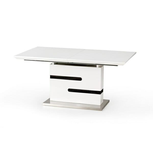 Разтегателна маса в сиво и бяло Монк
