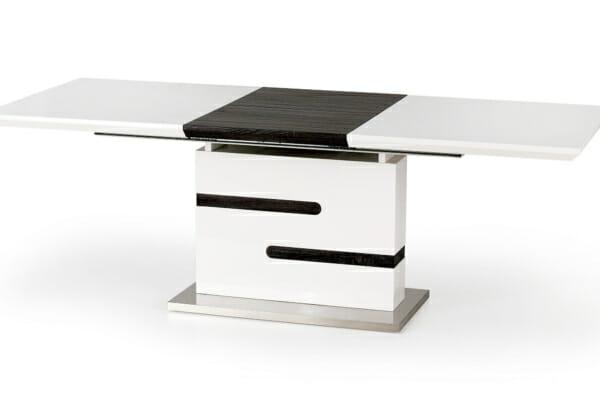 Разтегателна маса в сиво и бяло Монк - разтегната