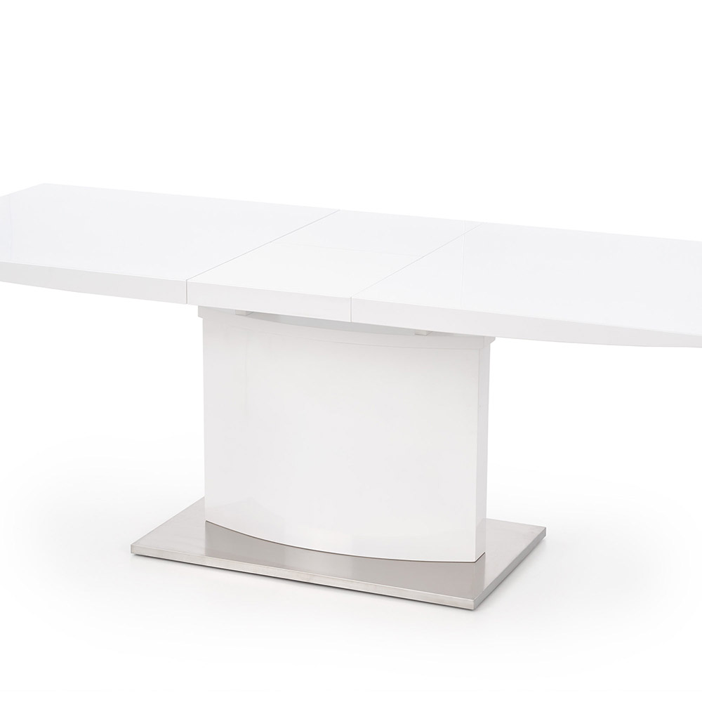 Трапезна маса от стомана и бял лакиран МДФ Софи