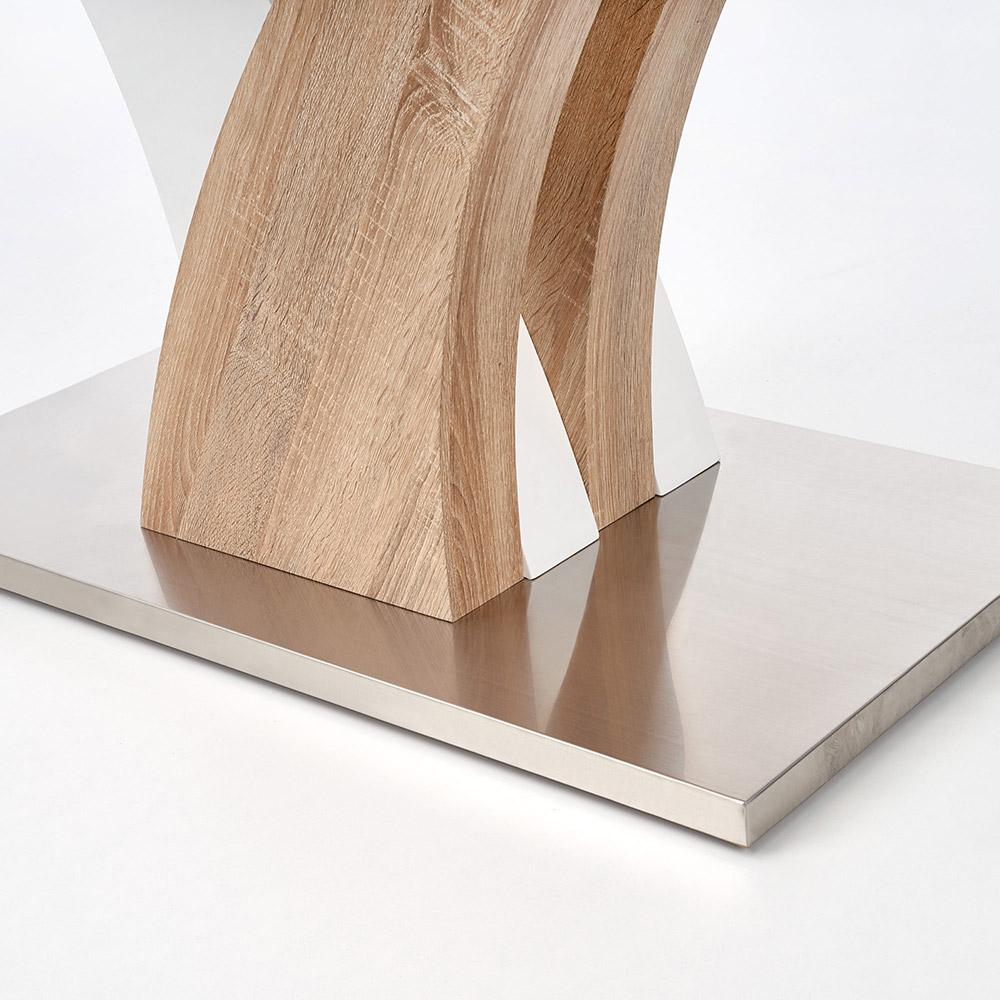 Модерна трапезна маса със стъклен плот Рита