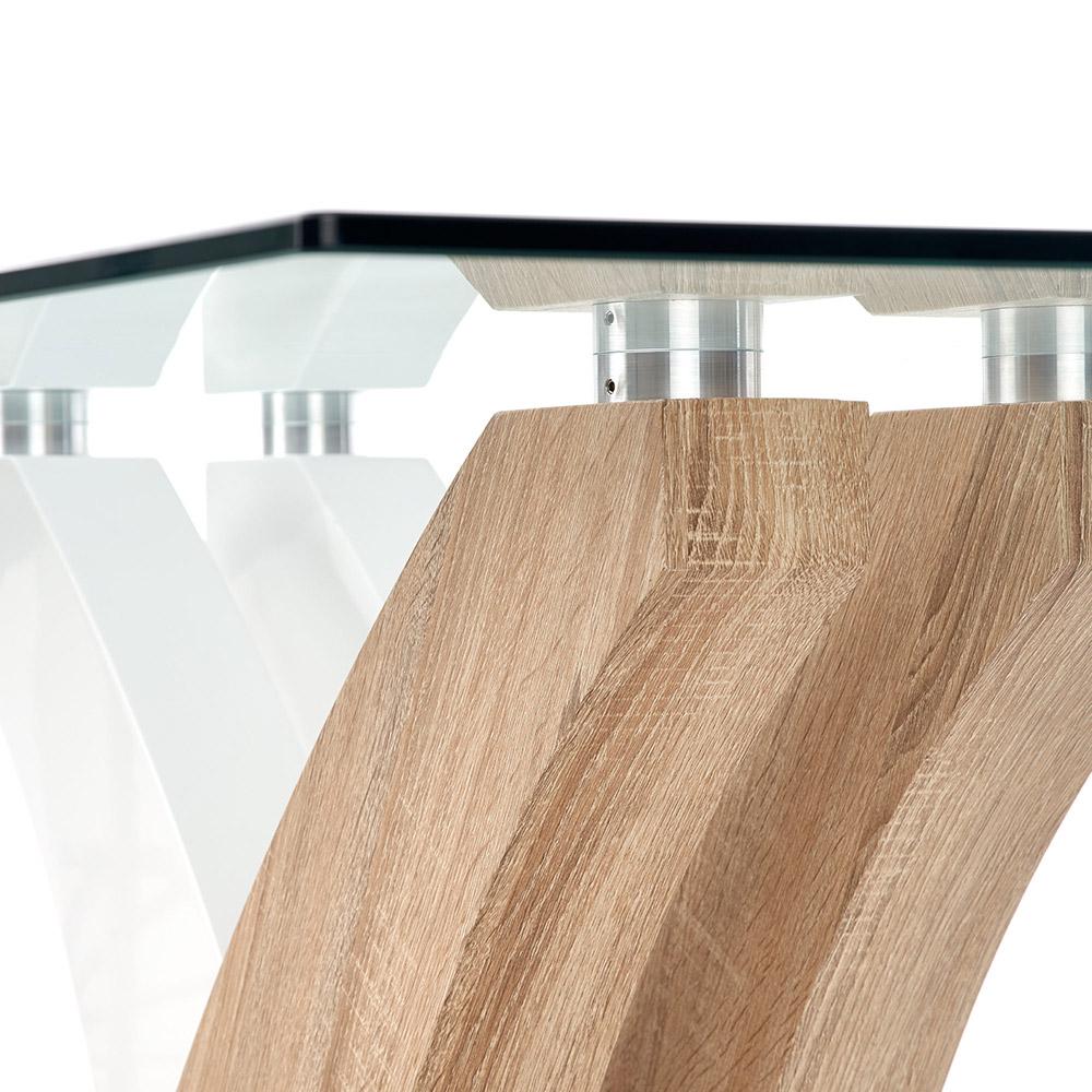 Стъклена маса Рита - поглед отдолу