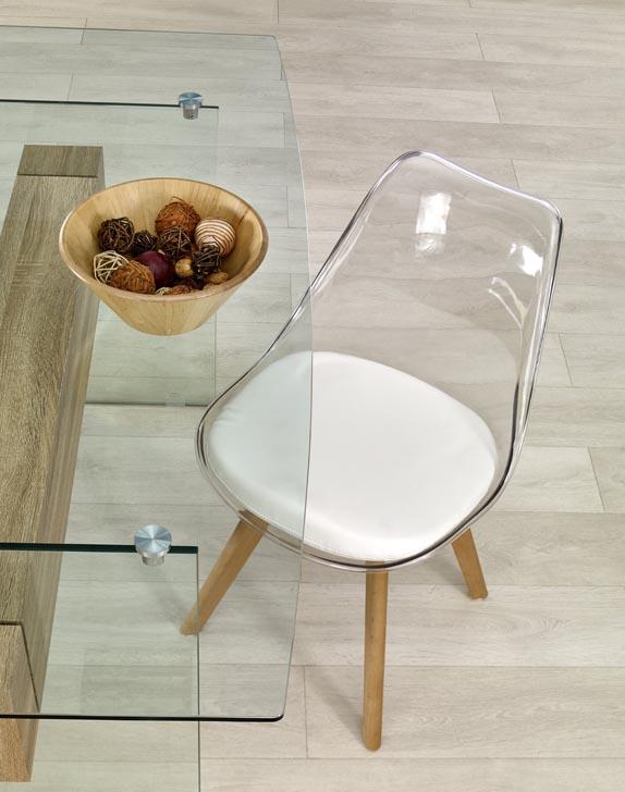 Стъклена маса Визия - отгоре