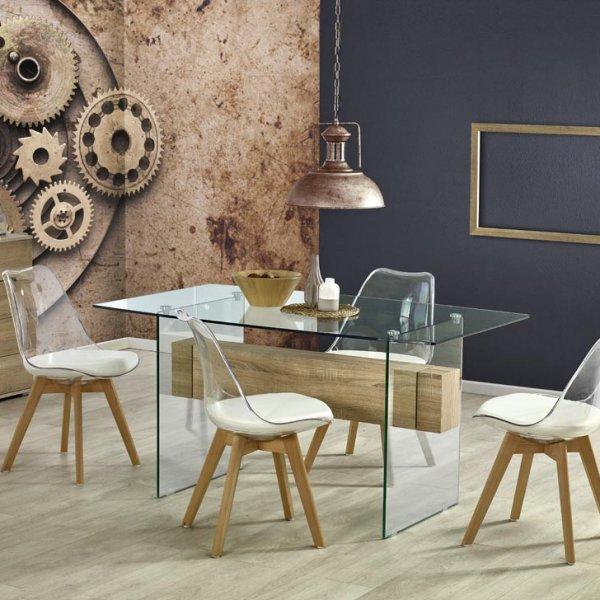Стъклена маса Визия - с 4 стола