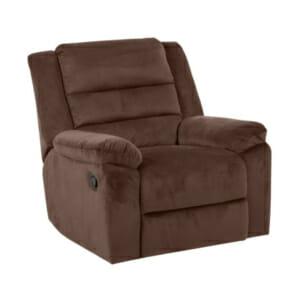 Тъмнокафяв фотьойл с дамаска в тъмен цвят и релакс механизъм