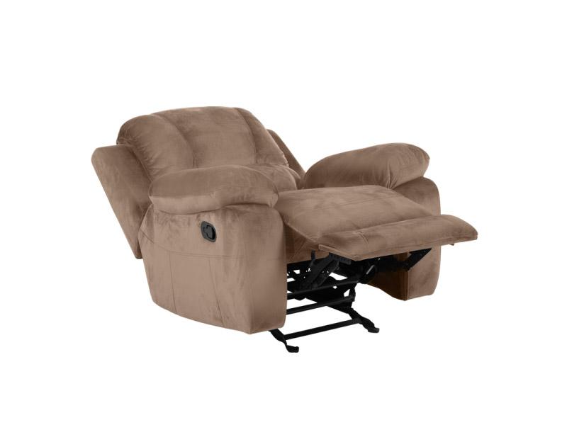 Бежов фотьойл с люлееща функция и релакс механизъм Гея-разпънат механизъм