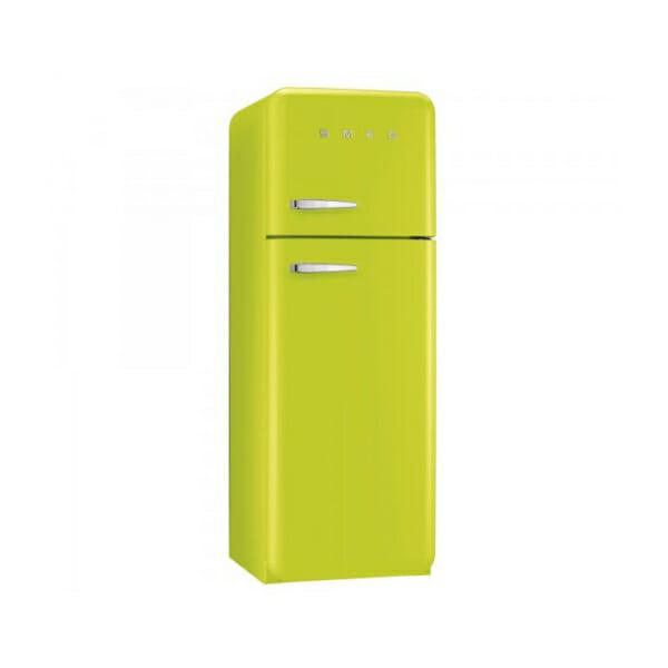 Хладилник с горна камера SMEG в цвят лайм
