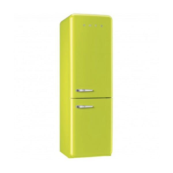 Хладилник с фризер SMEG в цвят Лайм