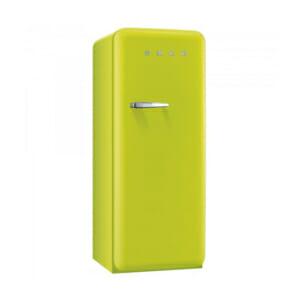 Цветен хладилник Smeg в ретро стил от 50те в цвят лайм