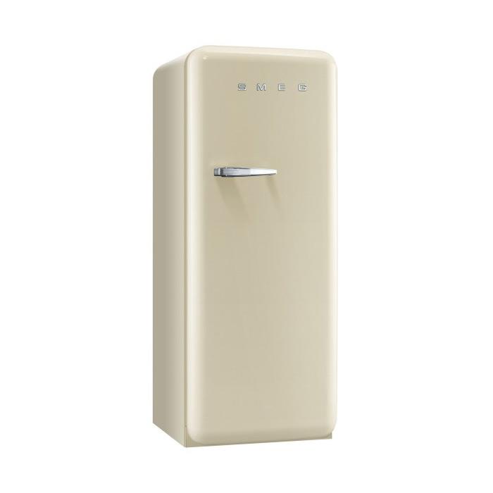Цветен хладилник Smeg в ретро стил от 50те в цвят шампанско