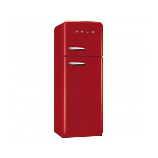 Червен хладилник с горна камера SMEG