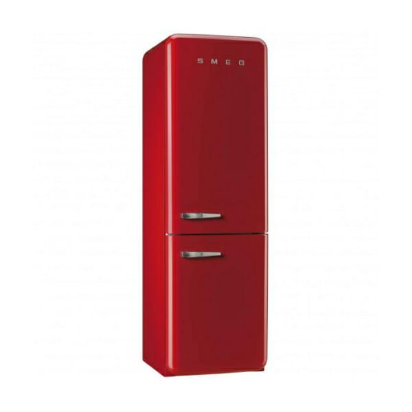 Червен хладилник с фризер SMEG