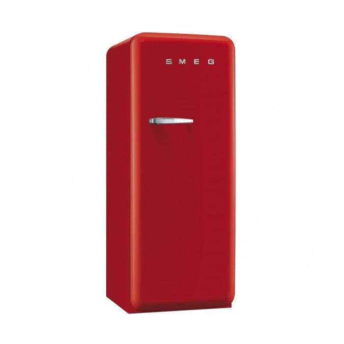 Червен хладилник Smeg в ретро стил от 50те