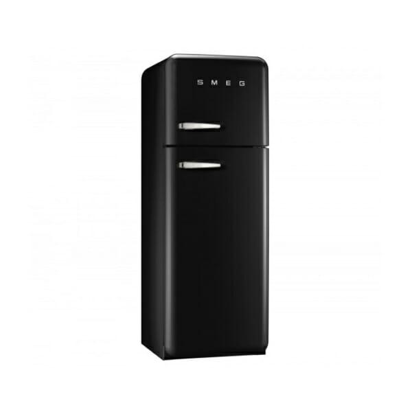 Черен хладилник с горна камера SMEG