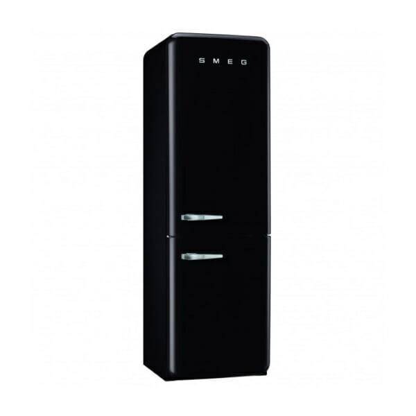 Черен хладилник с фризер SMEG