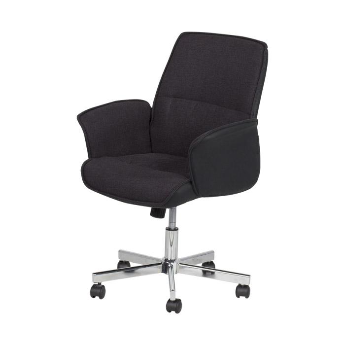 Черно офис кресло Кармен-снимка отляво