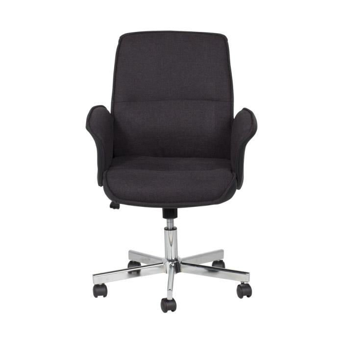 Черно офис кресло Кармен-снимка отпред