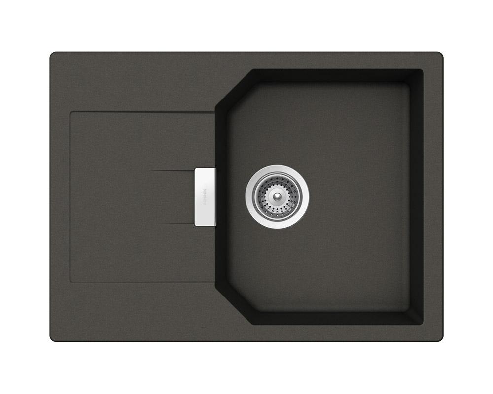 Компактна мивка за кухня от гранит SCHOCK Manhattan D100S - onyx