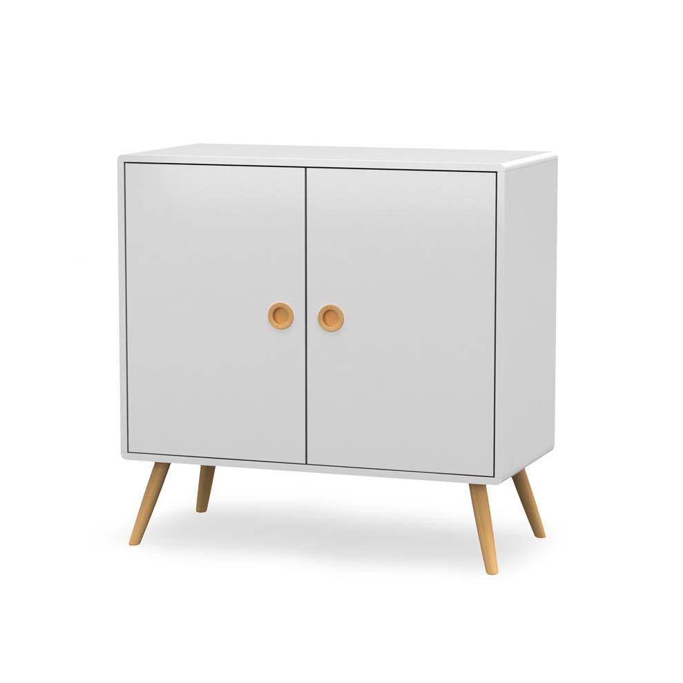 Бял шкаф в скандинавски стил Момо