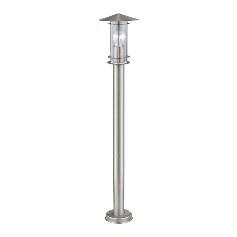 Висока градинска лампа в цвят инокс серия Lisio