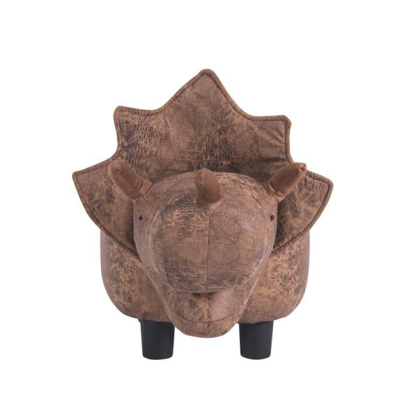 Детска табуретка във формата на динозавър - снимка отпред