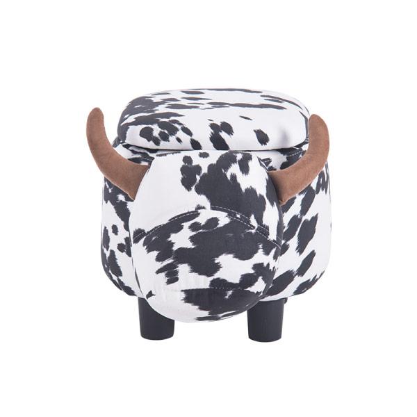 Детска табуретка във формата на крава - снимка отпред