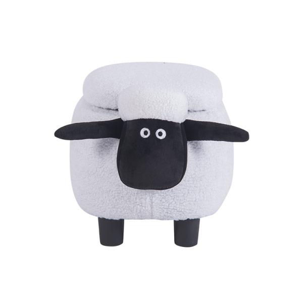Детска табуретка във формата на овца - снимка отпред