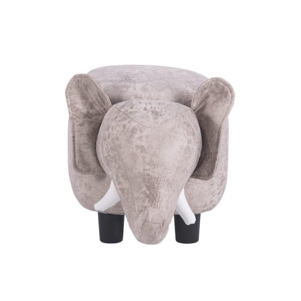 Детска табуретка във формата на слонче - снимка отпред