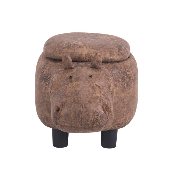 Детска табуретка във формата на хипопотам - снимка отпред