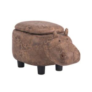 Детска табуретка във формата на хипопотам