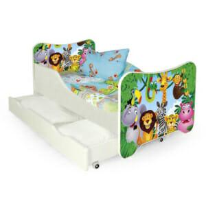 Детско легло за момиче или момче Животинско царство